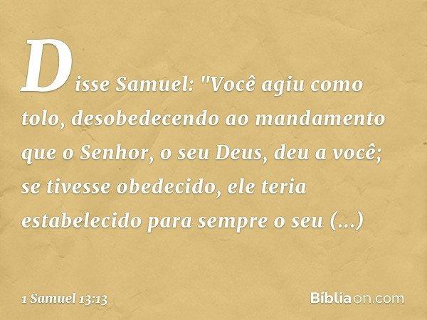 Disse Samuel: