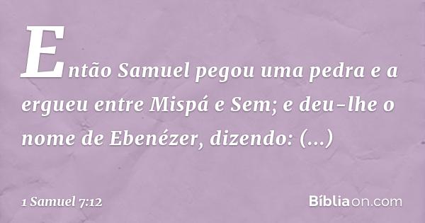 1 Samuel 712 Bíblia