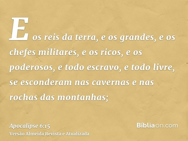 Apocalipse 6:15 - Bíblia