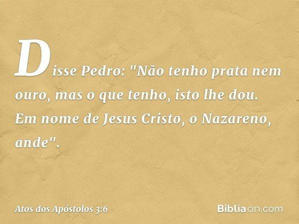 Disse Pedro: