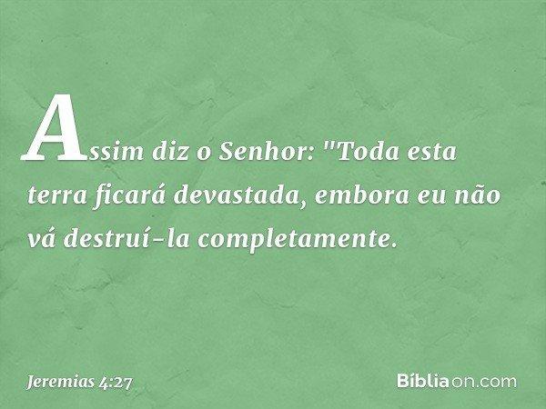 Assim diz o Senhor: