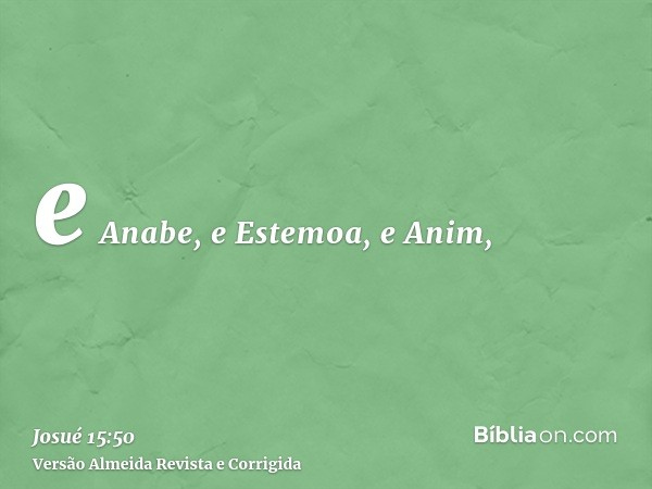 e Anabe, e Estemoa, e Anim,