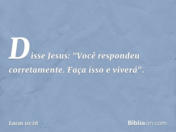 Disse Jesus: