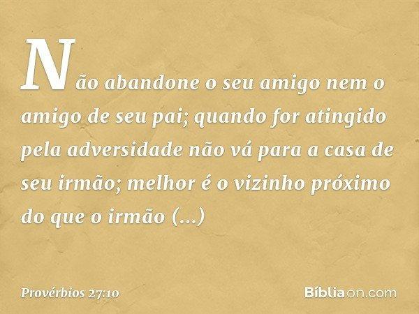 Provérbios 2710 Bíblia
