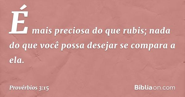 Provérbios 3:15 - Bíblia