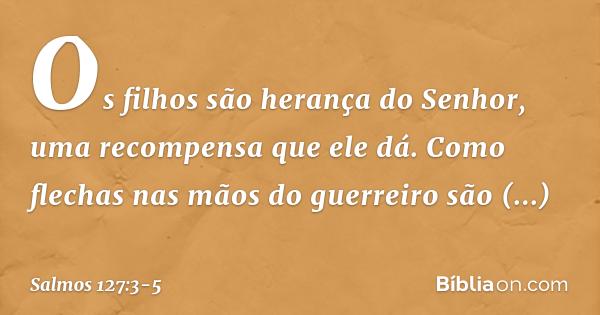 Salmo 1273 5 Bíblia