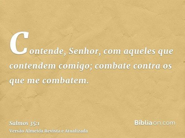 Contende, Senhor, com aqueles que contendem comigo; combate contra os que me combatem.