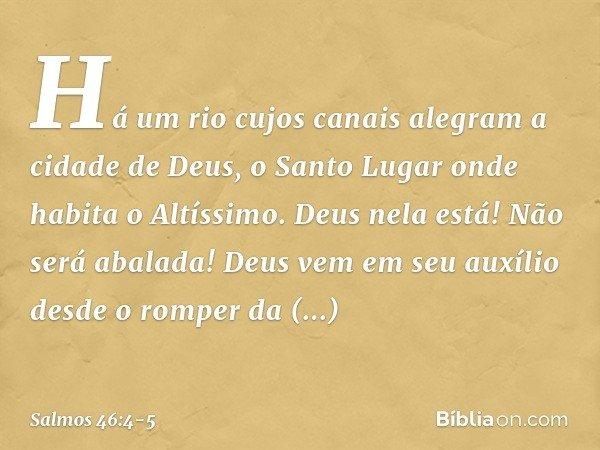 Salmo 46 4 5 Bíblia