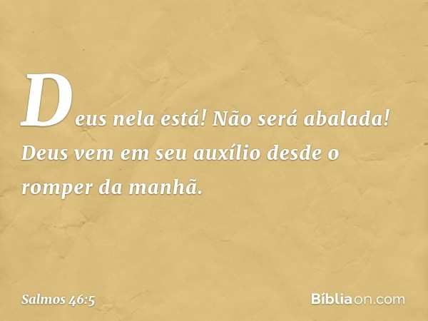 Salmo 46 5 Bíblia