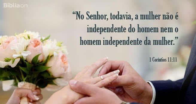 O marido e esposa dependem um do outro.
