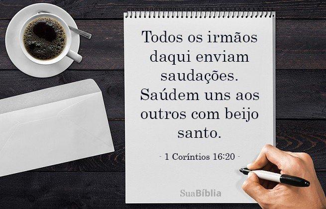 1 Corintios 16:20