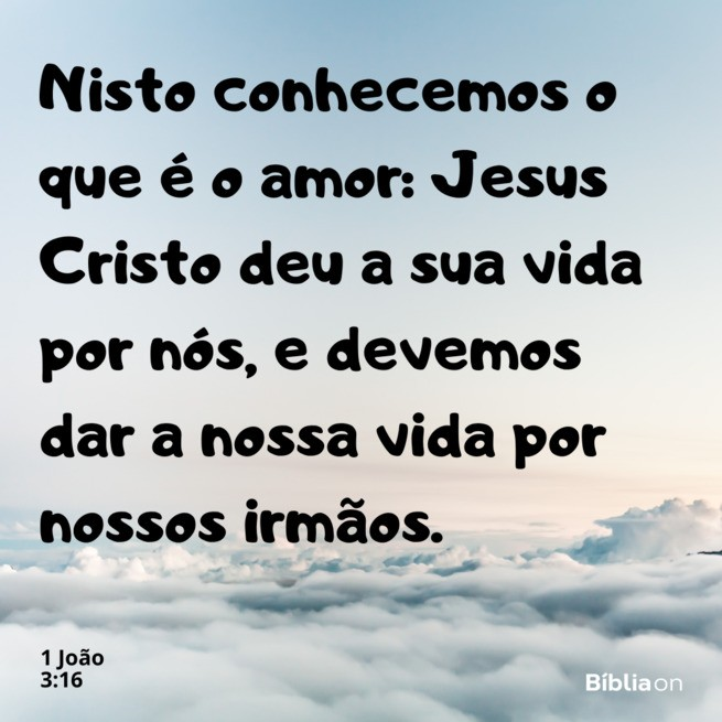 1 joão 3:16