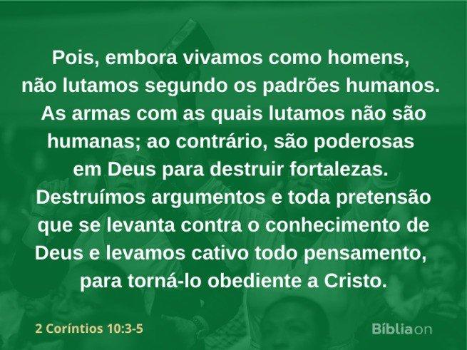 2 Coríntios 10:3-5
