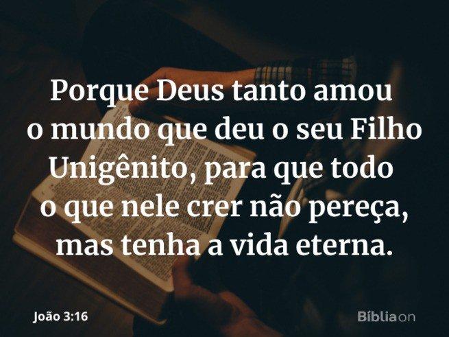 João 3:16 - Fôlego de vida