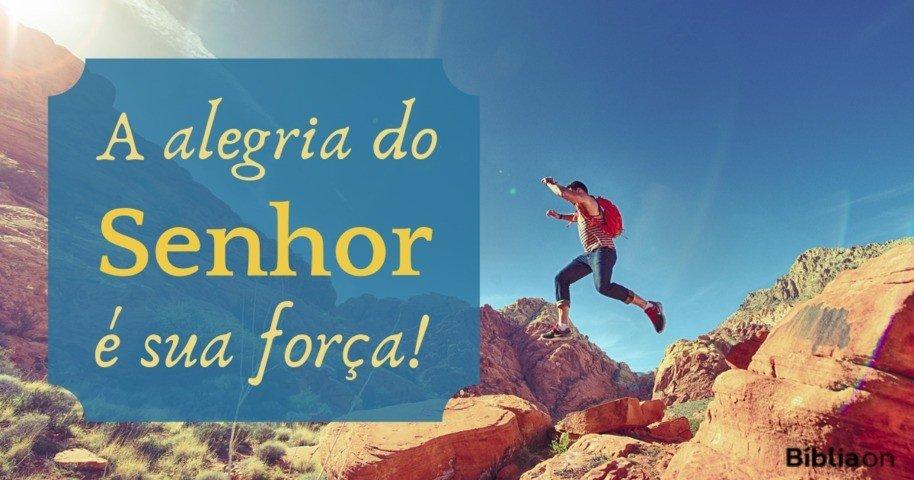 A alegria do Senhor é sua força! - Bíblia