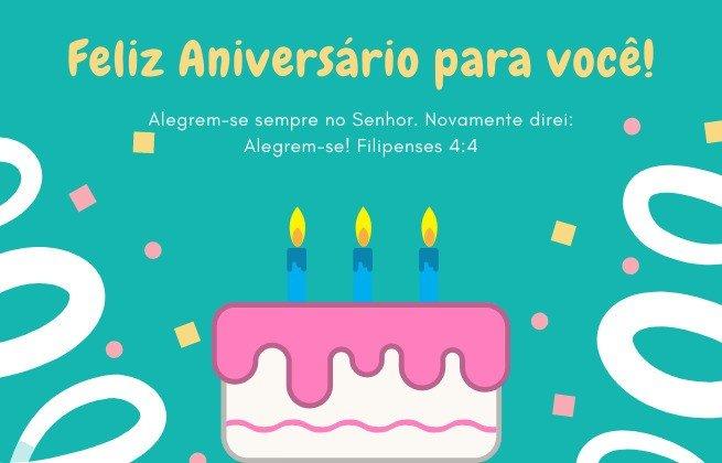 Feliz aniversário ' Filipenses 4:4