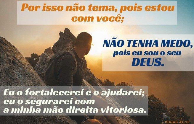 Não tenha medo - Isaías 41:10