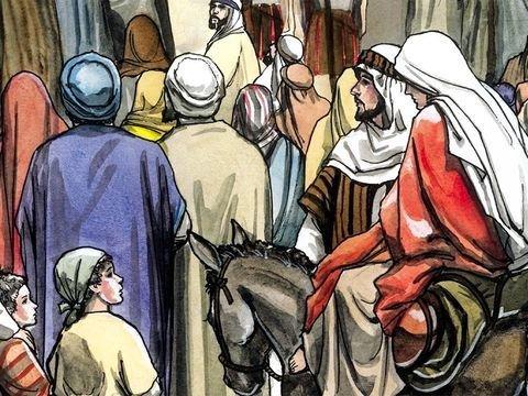 Sem alojamento - José e Maria procuram se hospedar, mas não havia lugar na cidade de Belém para acolher o bebê Jesus