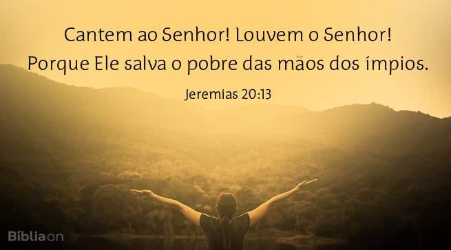 O Senhor sustentou Jeremias
