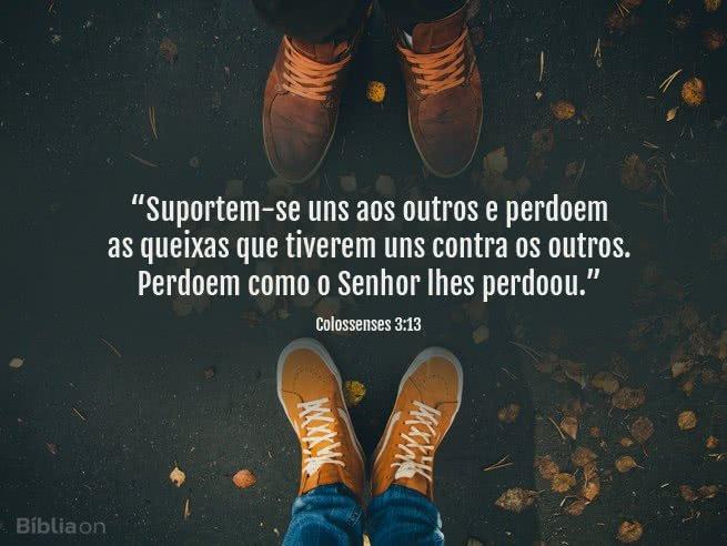 Suportem-se uns aos outros e perdoem as queixas que tiverem uns contra os outros. Perdoem como o Senhor lhes perdoou. Colossenses 3:13