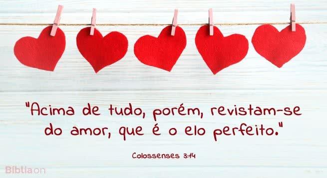 O amor é o elo perfeito