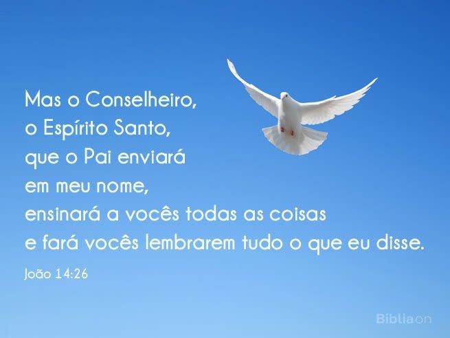 O Espírito Santo nos ajuda e ensina