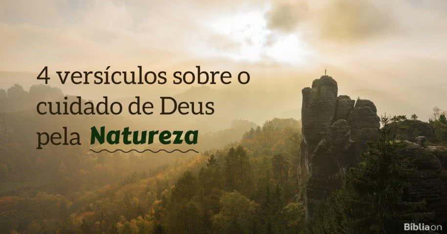 4 Versículos Sobre O Cuidado De Deus Pela Natureza Bíblia