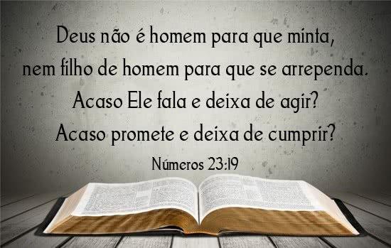 Deus cumpre as suas promessas
