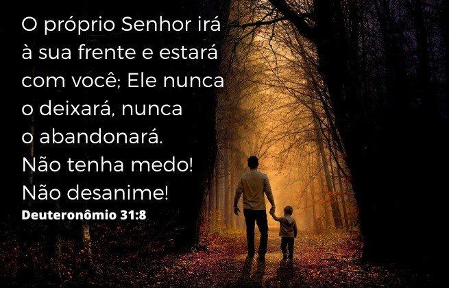 Fortalecer a fé - Deuteronomio 31:8 - Deus nunca o abndonará