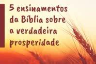 5 ensinamentos da B�blia sobre a verdadeira prosperidade