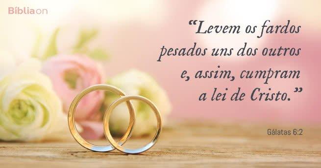 """""""Levem os fardos pesados uns dos outros e, assim, cumpram a lei de Cristo."""" Gálatas 6:2"""