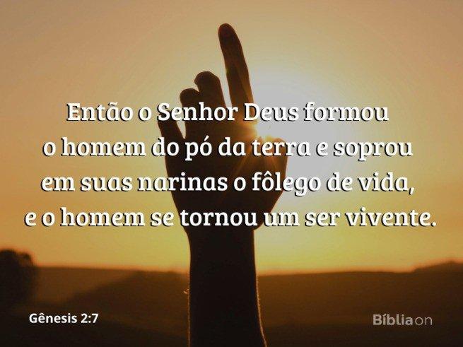Gênesis 2:7 - Sopro de vida