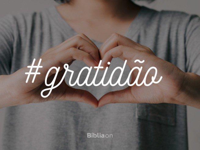 Hashtag gratidão