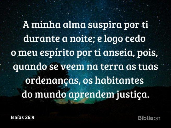 Isaías 26:9 - oração da madrugada