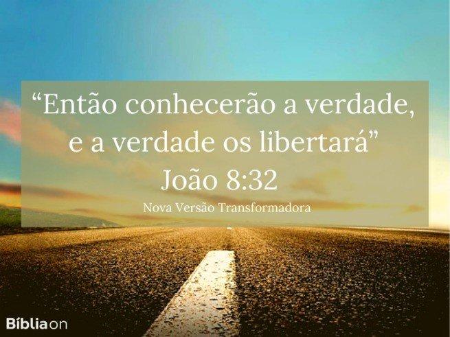 João 8:32 NVT