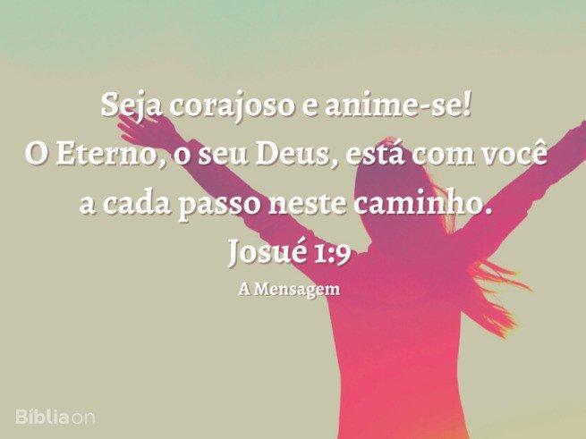 Josue 1:9 a mensagem