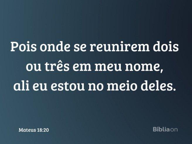 Frases de Jesus- Mateus 18:20