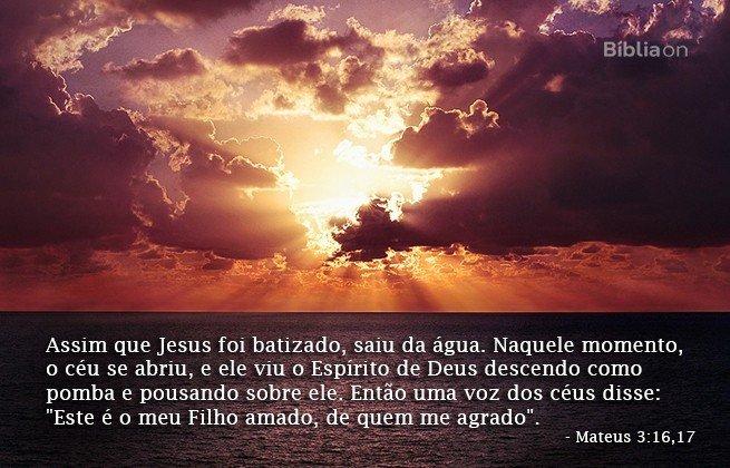 Mateus 3:16,17