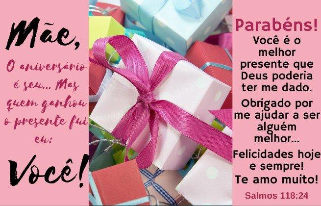 Mensagem aniversário para mãe