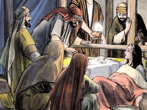 Pastores visitam Jesus - magos O adoram e levaram-lhe presentes