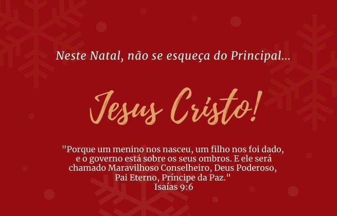 Neste Natal não se esqueça do principal: Jesus Cristo!