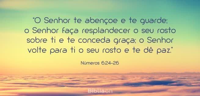 O Senhor te abençoe