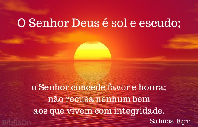 por do sol sobre o mar- Salmos 84:11 - Deus é sol e escudo