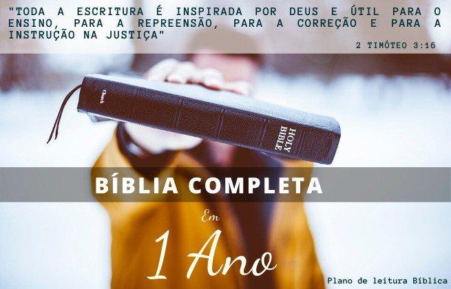 Plano leitura completa da Bíblia