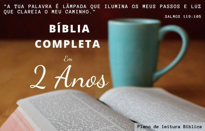 plano de leitura bíblica - 2 anos