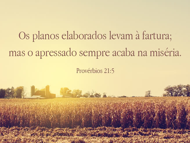 Faça planos para dar glórias a Deus!