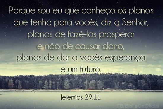 Deus tem planos bons para você