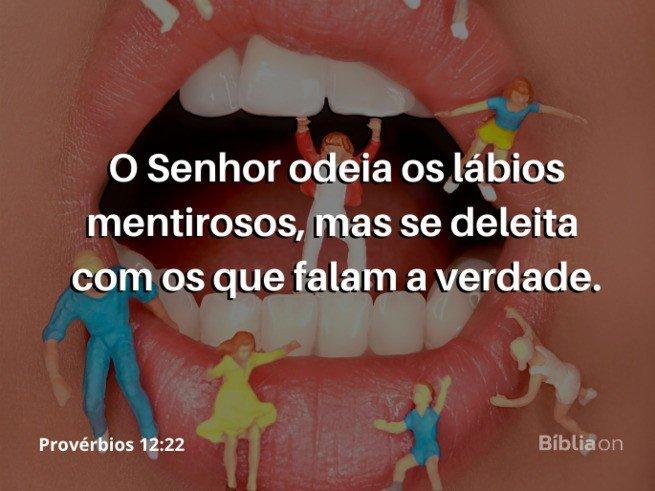 Lingua Mentirosa - Provésbios 12:22