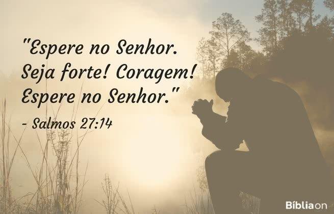 Espere no Senhor. Seja forte! Coragem! Espere no Senhor. Salmos 27:14