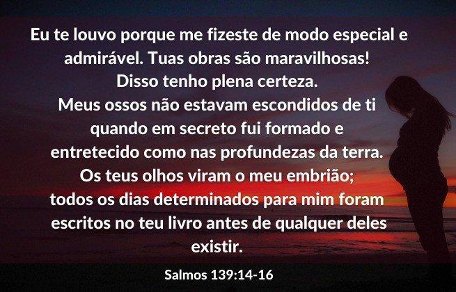 Imagem de fundo mulher grávida - Salmos 139:14-16